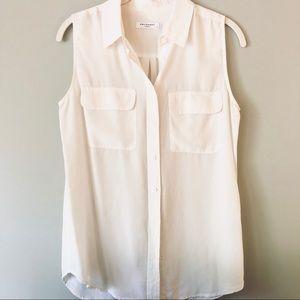 EQUIPMENT | sleeveless silk blouse